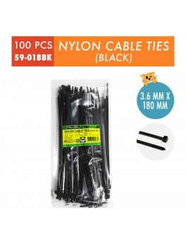 SELLERY 59-018 Nylon Calbe Ties, Size:3.6mmx180mm(Black)