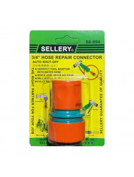 "SELLERY 60-094 3/4"" Auto Shut Off Hose Repair Connector"