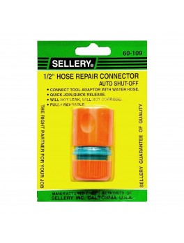 SELLERY 60-109 Auto Shut Off Hose Repair Connector 1/2""