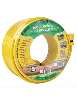SELLERY 60-230 Water Hose & Hose Nozzle Set 30M (Yellow)