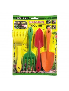 SELLERY 63-950 4pcs Garden Tool Set (High-Impact PP w/UV Stablizer)