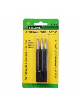 SELLERY 92-850 3pc Nail Punch Set