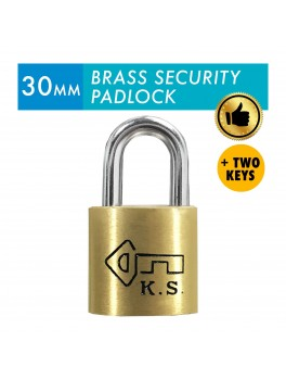 KS Brass Security Padlock 30mm with 2 keys
