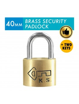 KS Brass Security Padlock 40mm with 2 keys