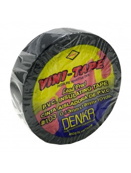 VINI-TAPE #103, 0.13mmx19mmx10YDS (Black)