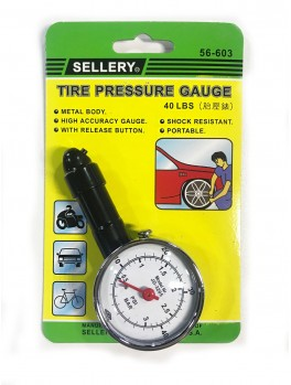 SELLERY 56-603 Tire Pressure Gauge 10-40PSI, 40lbs/2.8kg