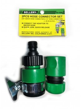 SELLERY 60-098 2pc Hose Connector Set 3/4