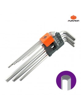 PUMPKIN 28502 Osaka 9pcs Extra Long Hex Key Set 1.5-10mm
