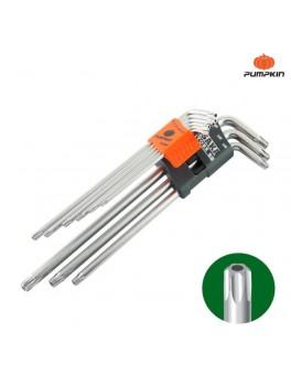 PUMPKIN 28504 Osaka 9pcs Extra Long Torx Key Set T10-T50