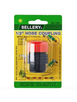 """SELLERY 60-105 Hose Coupling (for 1/2"""" ID Hose)"""