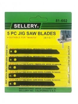 "SELLERY 81-602 5pc Jig Saw Blade Set 3"""