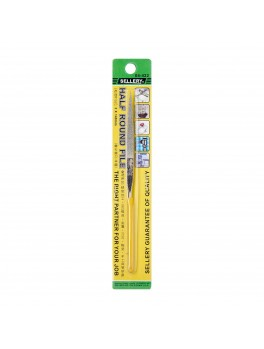 SELLERY 04-422 Half Round File, Size: 3x140mm