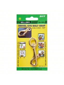 "SELLERY 19-103 Swivel Eye Bolt Snap 1/2"" (Max Support: 140KG)"