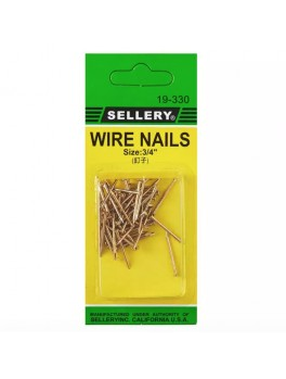 "SELLERY 19-330 Wire Nails, 3/4"" (55pc/set)"