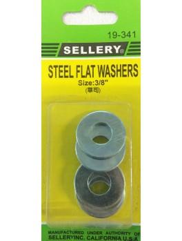 """SELLERY 19-341 Steel Flat Washers, 3/8"""" (5pc/set)"""