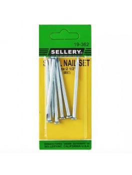 """SELLERY 19-362 7pcs Concrete Steel Nail Set Size:2 1/2"""""""