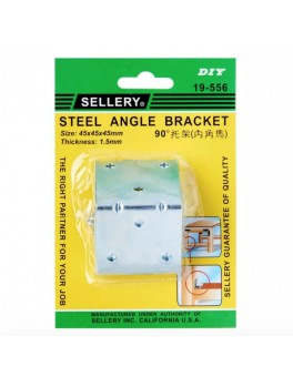 SELLERY 19-556 Steel Angle Bracket w/ Screws (4pc/set), L45xW45xH45xT1.5mm
