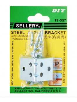SELLERY 19-557 Steel Angle Bracket w/ Screws (4pc/set), L25xW25xH25xT1.5mm