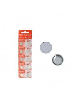 MAXELL LR1130 Alkaline (189) 1.5V Battery, 2-Pack (CARD-5PACKS)