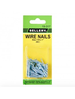 "SELLERY 19-317 Wire Nails #17x1"" (60pc/set)"