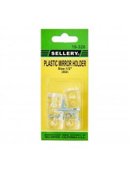 "SELLERY 19-326 Mirror Holders, 1/2"" (4pc/set)"