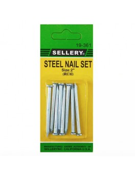 """SELLERY 19-361 8pcs Concrete Steel Nail Set Size:2"""""""