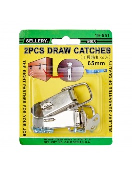 SELLERY 19-551 2pc Draw Catches with Screws, 65mm