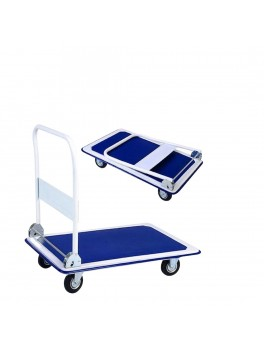 APEX Small Foldable Metal Platform Trolley, Capacity: 125KG - Size: 720x470x855mm