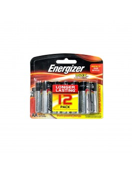 ENERGIZER E91 BP12 Alkaline Battery MAX, Size:AA (12pcs/card)