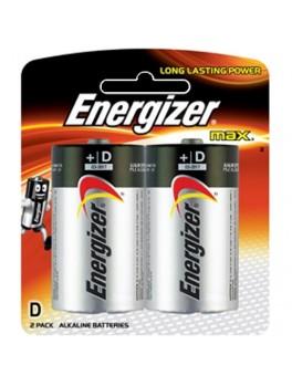 ENERGIZER E95 BP2 Alkaline Battery MAX, Size:D (2pcs/card)