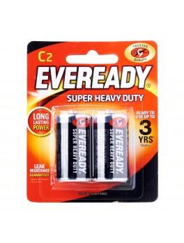 EVEREADY 1235 BP2 Carbon Zinc Battery, Super Heavy Duty, Size:C (2pcs/card)