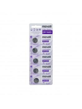MAXELL CR1620 Lithium 3V Battery, 1-Pack (CARD-5PACKS)