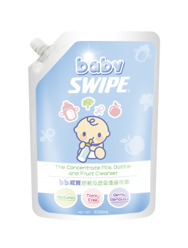 BABY SWIPE 6003 Concentrate Milk Bottle and Fruit Cleanser (Pouch pack) 1000ml