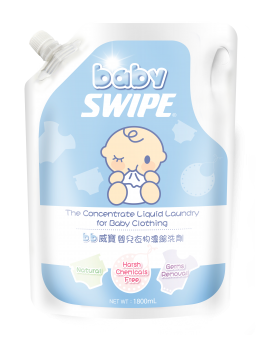 BABY SWIPE 6053 Concentrate Liquid Laundry for Baby Clothing (Pouch pack) 1.8L