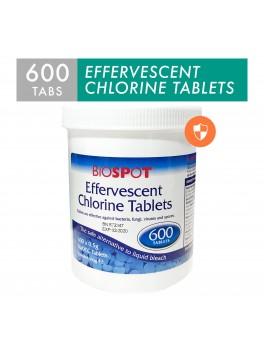 BIOSPOT Effervescent Chlorine Tablet, 0.5g NADCC Per 1.1g - 600's