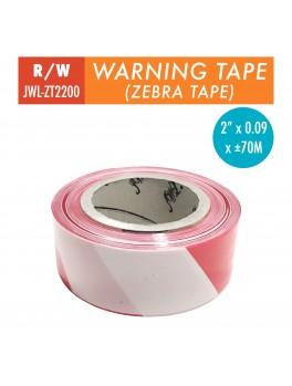 """JWL Warning Tape 2""""- Red/White"""