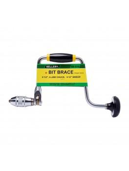 """SELLERY 08-510 Ratchet Bit Brace 12""""- Chuck Size: 1/2"""""""