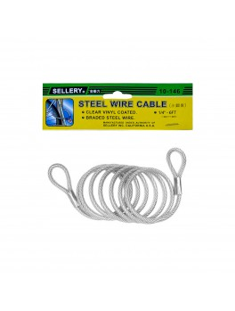 "SELLERY 10-146 Steel Wire Cable- 1/4""x6Ft"