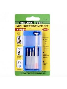 SELLERY 11-147  6-in-1 Mini Screwdriver Set