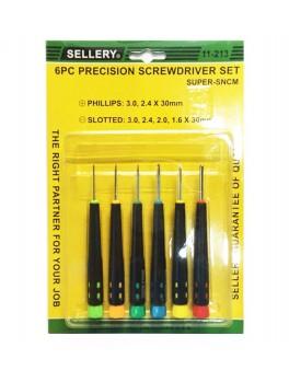 SELLERY 11-213 6pc Precision Screwdriver Set