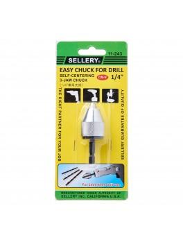 "SELLERY 11-243 Drill Chuck- 6mm / 1/4"""
