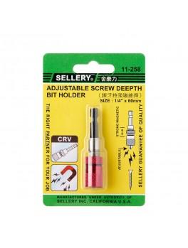 "SELLERY 11-258 Bit Holder- 1/4""x60mm"