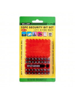 SELLERY 11-259 33pc Security Bit Set with Holder
