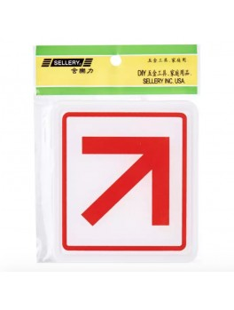 "SELLERY 16-062 ""Diagonal Pointing Arrow"" Sign"