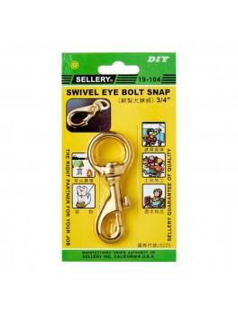 "SELLERY 19-104 Swivel Eye Bolt Snap- 3/4"""