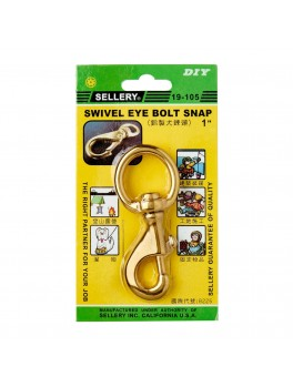 "SELLERY 19-105 Swivel Eye Bolt Snap- 1"""