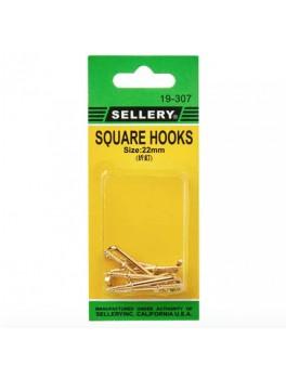 SELLERY 19-307 Square Hooks- 22mm