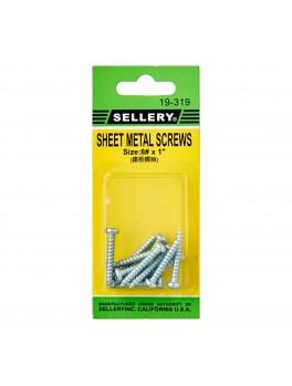 """SELLERY 19-319 Steel Metal Screws #8x1"""""""