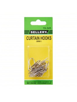 SELLERY Curtain Drapery Pin Hooks - 12 PC