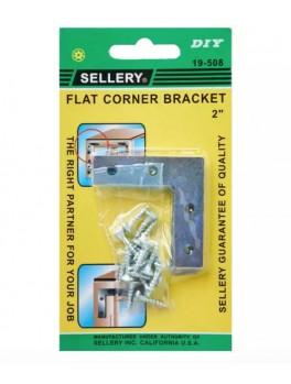 "SELLERY 19-508 Flat Corner Bracket- 2"""